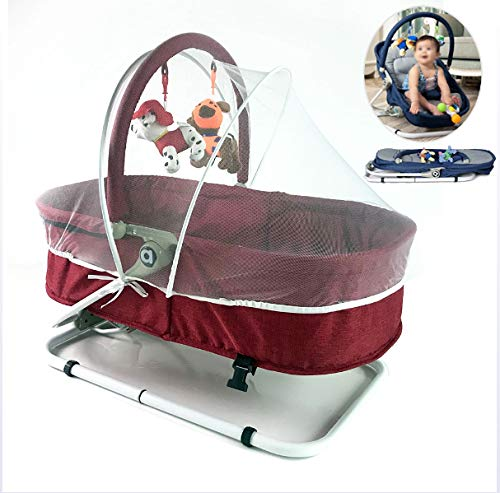 JTYX Silla Mecedora para bebé con mosquitero Ajuste ...