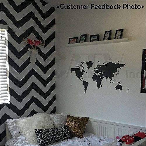 (Chalkboard World Map vinyl wall decal)