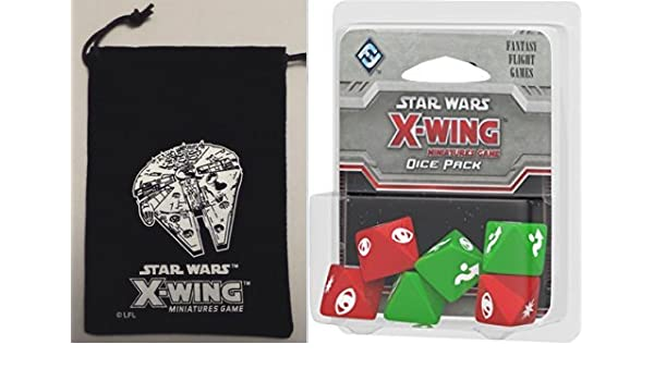Star Wars X-Wing: Miniatures Game Dice Pack Premium Bundle + Promo Bag - Expansion: Amazon.es: Juguetes y juegos