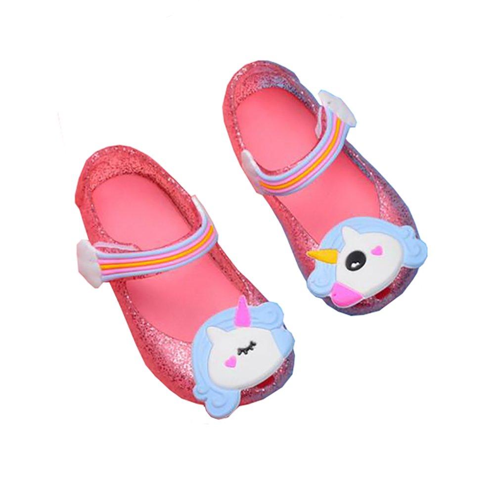 LANXI Girls Cartoon Toddler Sandals Summer Jelly Shoes Kids