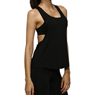 132f5f6a13dcb Leisial Women Lady s Sports Vest Tops Sleeveless Top T-Shirt Women Gym Tank  Top for