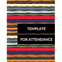 Template For Attendance