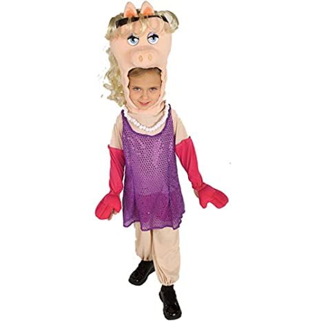 Childu0027s Muppets Miss Piggy Costume (SizeToddler ...  sc 1 st  Amazon.com & Amazon.com: Childu0027s Muppets Miss Piggy Costume (Size:Toddler 2-4 ...