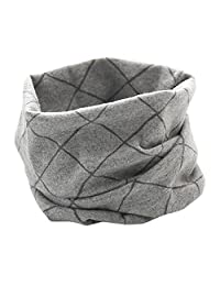 Changeshopping Autumn Winter Boys Girls Collar Baby Scarf Cotton O Ring Neck Scarves (Gray 02#)