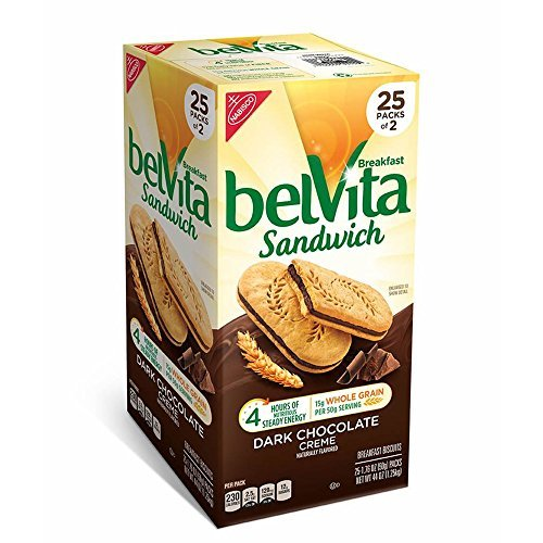 Belvita Dark Chocolate Creme Breakfast Sandwich, 25 ct.