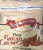 5 lb bag Supremo Italiano Plain Bread Crumbs Bulk Reclosable