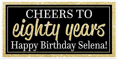 Cheers to 80 Years Personalized Banner