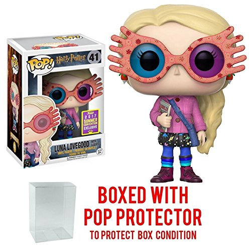 Funko Pop! Movies: Harry Potter - Luna Lovegood with Glasses #41 SDCC 2017 Summer Convention Exclusive Vinyl Figure (Bundled with Pop BOX PROTECTOR - Glasses Luna Lovegood
