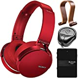 Sony XB950B1 Extra Bass Wireless Headphones with Accessories Kit (Red) (2017 model)