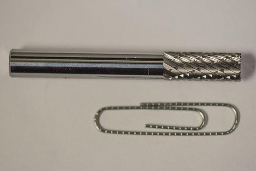 SB-1 Cylindrical End Cut Shape Carbide Burr Die Grinder Bit Double Cut