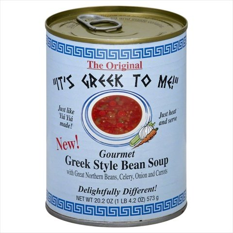 It's Greek to Me Gourmet Greek Style Bean Soup, 20.2 Ounce (Pack of 12) - Greek Bean Soup