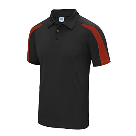 Contrast cool polo Jet Black-Fire Red M: Amazon.es: Deportes y ...