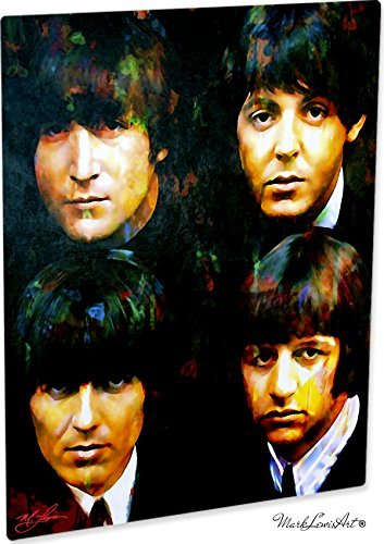 Beatles | Fab Four | Pop Art Giclee Metal Print by Mark Lewis