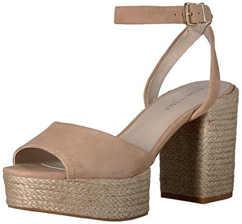 Cole Sandals Suede Kenneth (Kenneth Cole New York Women's Pheonix Platform Dress Sandal Heeled, Buff Suede, 8.5 M US)