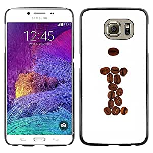Slim Design Hard PC/Aluminum Shell Case Cover for Samsung Galaxy S6 SM-G920 Cool Coffee Beans Brown I Hipster / JUSTGO PHONE PROTECTOR