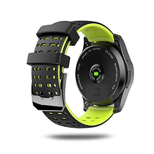 Leegoal(TM) Fashion GS8 Waterproof GPS Smart Watch Blood Pressure Heart Rate Wristwatch Support SIM Card for IOS Android (Green) by Leegoal (Image #2)