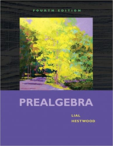 Prealgebra 4th Edition Margaret L Lial Diana L Hestwood