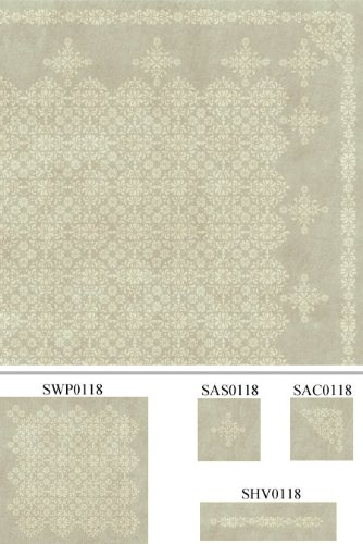 Antique Rosette Border Stencil - Stencil only - 10 mil medium-duty by Stencil Ease