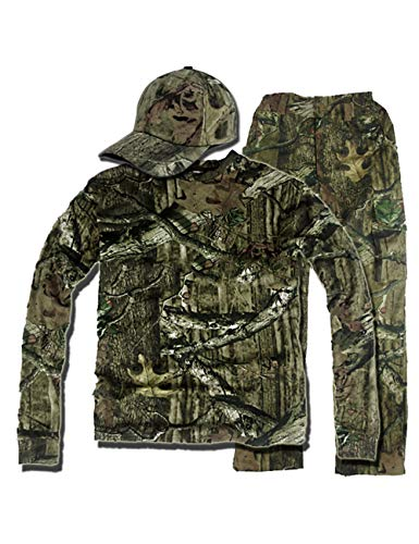 AKMQBZ 3D Outdoor Bionic Camouflage Hunting Suit - Top + Pants + Cap (Size : XXXL)