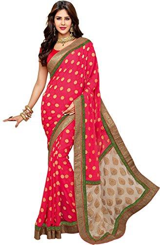 Kala Women's Designer Saree One Size Pink_MMSR02