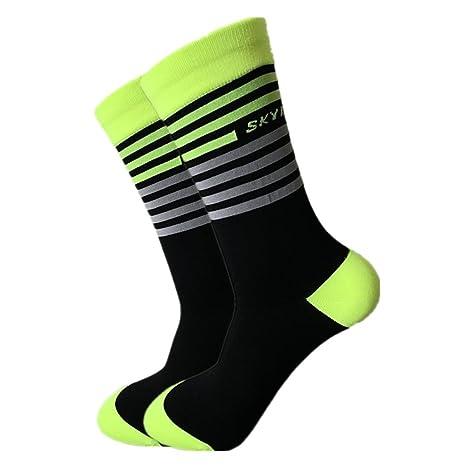 Calcetines de ciclismo deportivo Calcetines originelle Calcetines a rayas en 4 colores tamaños de 39