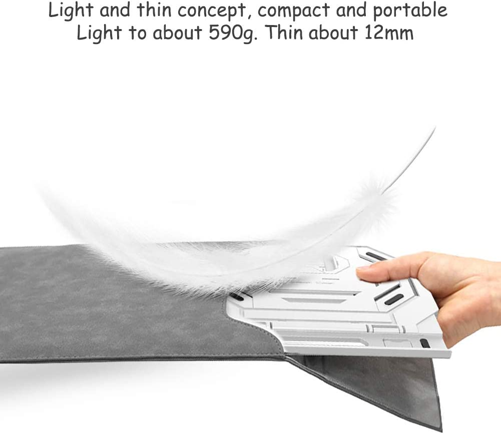 Laptop Table Lightweight 360/° Swivel for Desk with Adjustable Angles for Home Office-White 26.5x29x2cm Anti-Slip Portable Desk Laptop Stand 10x11x1inch