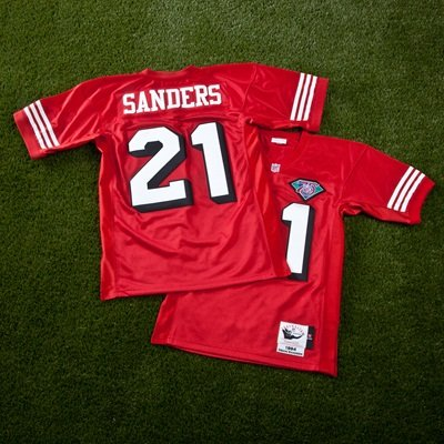 reputable site a0dd7 7576b San Francisco 49ers Deion Sanders 1994 Authentic Jersey ...