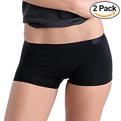 Comfortable Club Women's Modal Microfiber Boyshorts Panties Underwear 2-Pack