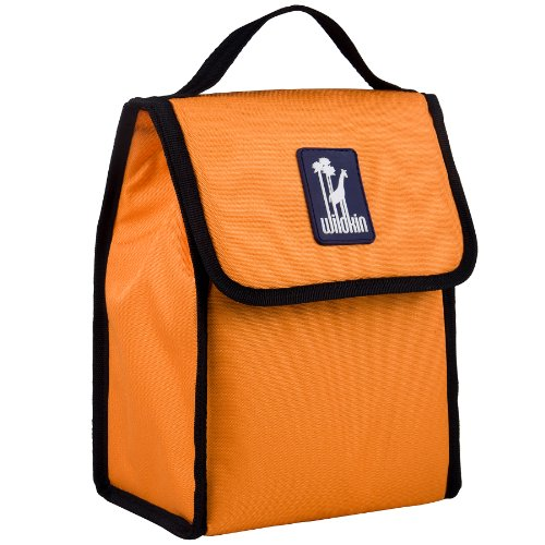 Lunch Bag, Wildkin Lunch Bag, Insulated, Moisture Resistant, Easy to Clean and Folds Flat Making Storage That Much Easier, Ages 3+, Perfect for Kids or On-The-Go Parents – Bengal Orange - Orange Lunch
