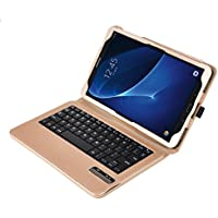 KuGi Asus Zenpad Z10 ZT500KL keyboard case, Ultra Lightweight Stand Portfolio cover case with Detachable Bluetooth Keyboard for Asus Zenpad Z10 ZT500KL Verizon /3S 10 Z500M 9.7-Inch tablet (Gold)