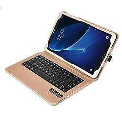KuGi Asus Zenpad Z10 ZT500KL keyboard case, Ultra Lightweight Stand Portfolio cover case with Detachable Bluetooth Keyboard for Asus Zenpad Z10 ZT500KL Verizon /3S 10 Z500M 9.7-Inch tablet (Gold)