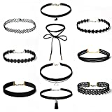 Amazon Price History for:Choker Necklace Set Stretch Velvet Classic Gothic Tattoo Lace Choker