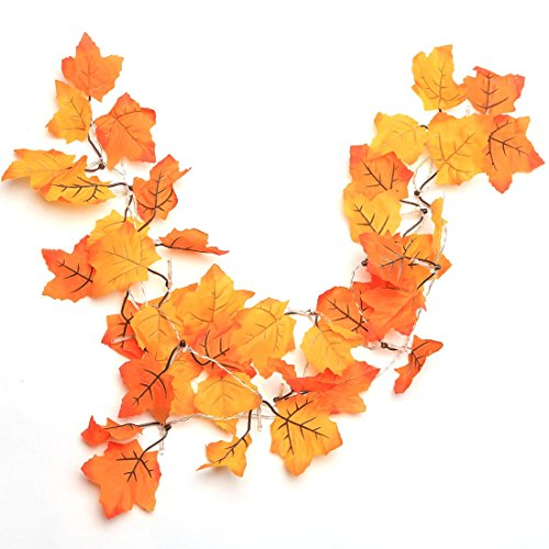 Thanksgiving Decorations Lighted Fall Garland, Thanksgiving Decor Halloween String Lights 8.2 Feet 20 LED, Thanksgiving Gift -