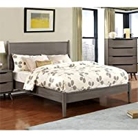 Furniture of America Farrah Queen Bed in Gray