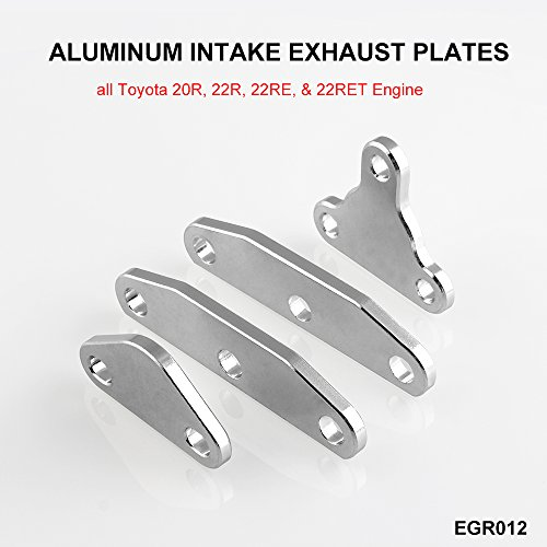 Sporacingrts Smog EGR Delete Exhaust Intake Block Off Plate Set Air Plug Kit Fit for Toyota 20R (Egr Block Off Kit)