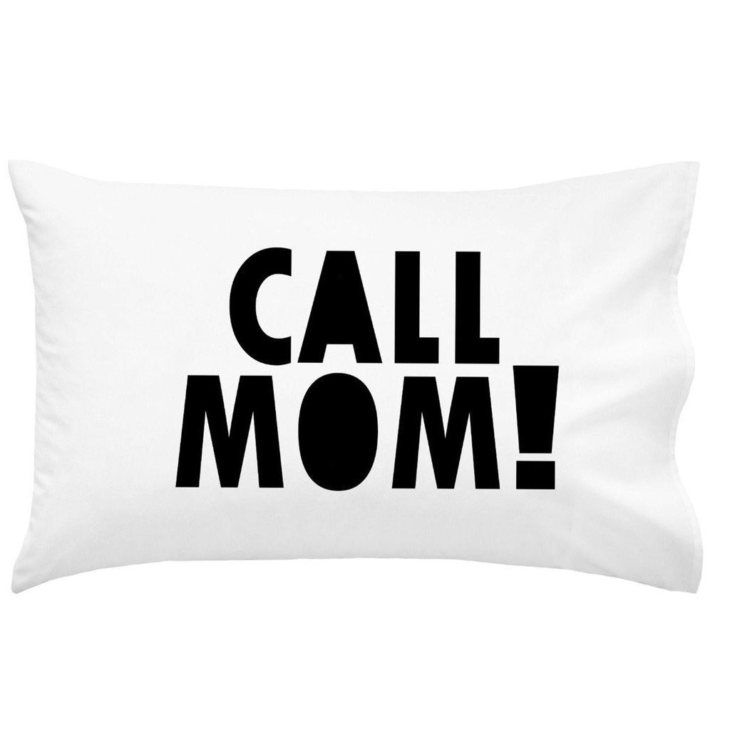 Oh, Susannah Call Mom Pillow Case Black Graduation Gifts for College Dorm Room Bedding Accessories for Girls or Boys Pillowcase Fits Standard or Queen Size Pillow by Oh, Susannah