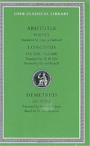 Ebooks gratuitos para descargar pdf Aristotle:Poetics.; Longinus: On the Sublime; Demetrius: On Style (Loeb Classical Library No. 199) FB2 by Aristotle,Stephen Halliwell