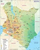 Kenya Map (36'' W x 44.4'' H)