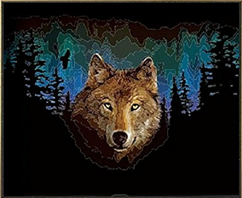 PaintingStudio Wolf in the Night DIY painting by numbers kits acrylic oil picture on canvas 16x20 inch Frameless
