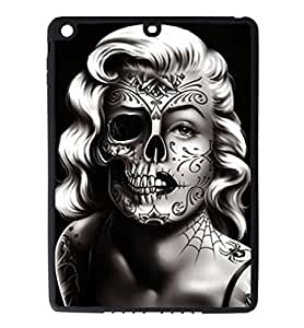iPad Air Rubber Silicone Case - Marilyn Monroe Tattoo Skull Face