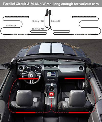 Reviews Summary Pros Cons Interior Car Lights Govee Car Led Strip Light Upgrade Two Line Design Waterproof 4pcs 48 Led App Controller Lighting Kits Multi Diy Color Music Under Dash Car