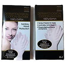 Dermatological 100% Cotton Gloves 2 Pair Large
