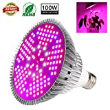 100W Led Grow Light Bulb, Plant Lights Full Spectrum for Indoor Plants Hydroponics, Led Plants Bulbs for Flowers Tobacco Garden Greenhouse and Organic Soil (E26 120LEDs) … For Sale