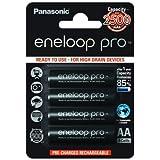 Lot de 4 piles Panasonic eneloop Pro BK-3HCCE/4BE 2450mAh
