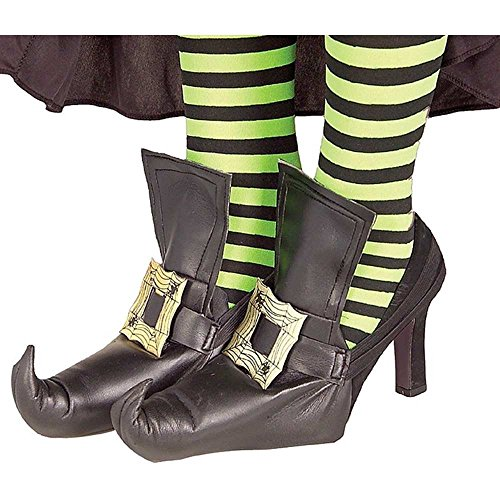Adult Witch Shoe Covers with Gold Buckles
