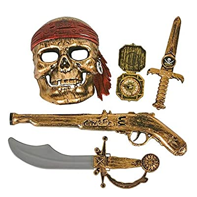 Rhode Island Novelty 5pc Pirate Pistol Set: Toys & Games