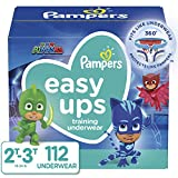 Pampers Toddler Training Underwear for Toddlers, Easy Ups Diapers, Training Pants for Boys and Girls, Size 4 (2T-3T), 112 Count, Giant Pack (Packaging May Vary)