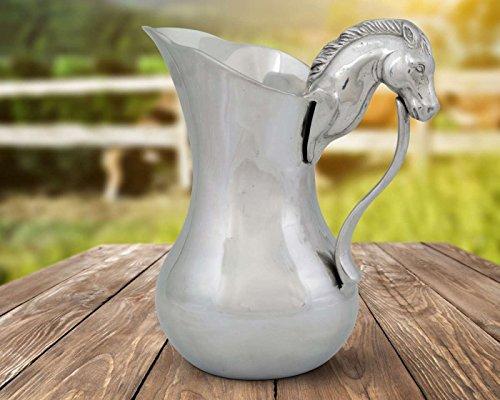 Horse Head Pitcher (Arthur Court Designs Aluminum Horse Head Beverage Pitcher 10