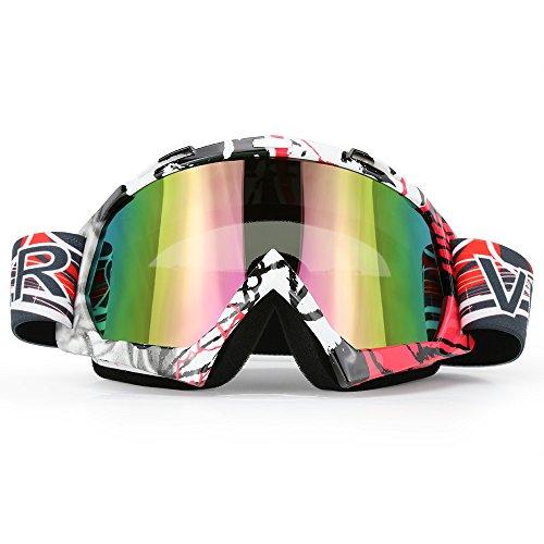 Motorcycle Goggles Dirt Bike ATV Motocross Mx Goggles Glasses for Men Women Youth Kids (8 Color) - Moto Glasses