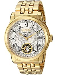 Washington Men's Swiss Automatic Gold-Tone Stainless Steel Bracelet Watch, (Model: 2622B)